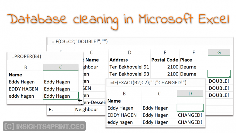 cleaning up your mailing list a few tricks in microsoft excel